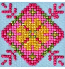 "Diamond Dotz Diamond Embroidery Facet Art Kit 4.75""X4.75"" Patchwork Mandala 1"