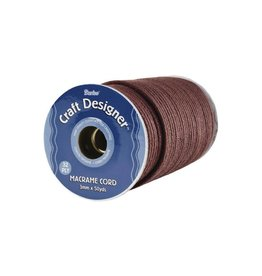 Macrame Cord 32-Ply 3mmX50yd Brown Poly