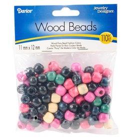 Wood Pony Beads 11mmX12mm 110/Pkg Fashion
