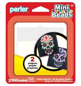 Perler Mini Fused Bead Kit Sugar Skull