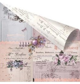 12X12 Patterned Paper, Lavender - Through The Years