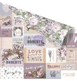 12X12 Patterned Paper, Lavender - Communication Through Love