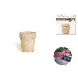 Wood: 5cmx5.5cm Mini Flower Pots x1 Natural