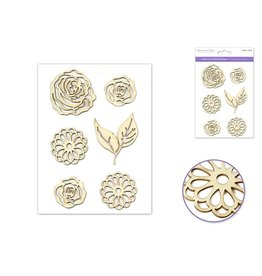 "Laser Cut Wood Stickers 5""x8"" -Floral Medley"
