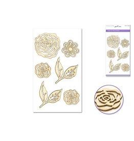 """Laser Cut Wood 4.5""""x7.7"""" - Floral"""