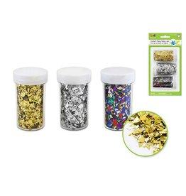 15g Confetti Flakes Shaker Jars - Gold/Silver/Multi