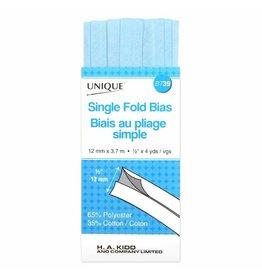 Single Fold Bias Tape 13mm x 3.7m - Light Blue