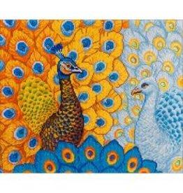 "Diamond Dotz Diamond Embroidery Facet Art Kit 31.5""X25"" Romantic Peacocks"