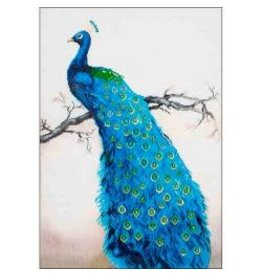 "Diamond Dotz Diamond Embroidery Facet Art Kit 25.25""X34.5"" Blue Peacock"