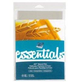 """Grafix Essentials Stencil Film 5.5""""X8.5"""" 4/Pkg Clear .007"""""""
