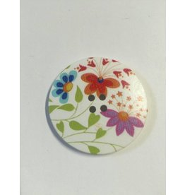 Kathy's Fiber Arts & Crafts Ltd Button 40mm Prints 2 pc