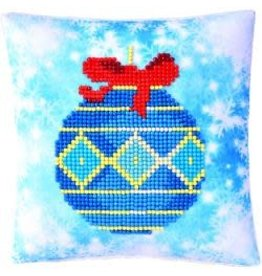 "Diamond Dotz Diamond Embroidery Pillow Facet Art Kit 8""X8"" Blue Bauble Pillow"