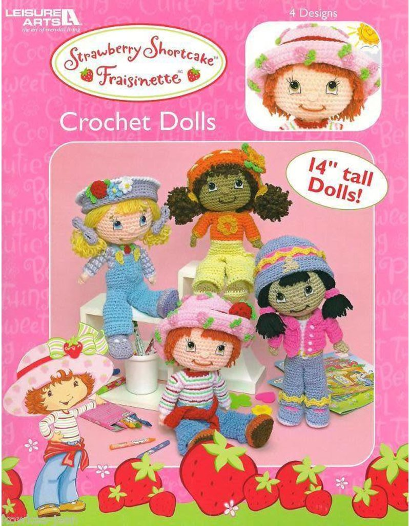 Leisure Arts Strawberry Shortcake Crochet Dolls Clearance Final