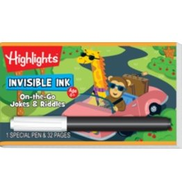Invisible Ink: Highlights Game Book - On-the-Go Jokes & Riddles