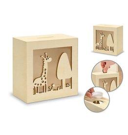 MultiCraft Wood Piggy Bank - Giraffe