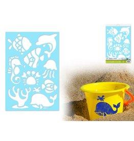 """7.5""""x11"""" Multi-Media Stencil -Sea Life"""