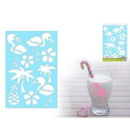 """7.5""""x11"""" Multi-Media Stencil  Flamingo"""