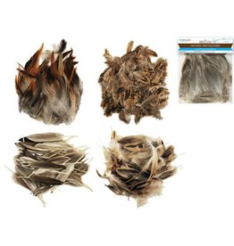 "MultiCraft Feather Craft: 3""-4"" Natural Minis 3g Asst"