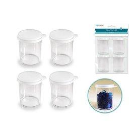 Craft/Bead Storage: Snap-Lid Cups x4