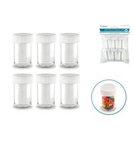 Craft/Bead Storage: 20g (0.7 oz) Screw-Top Cups x6