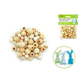 Craftwood: 10mm-16mm Asst Round Beads 60/pk Natural