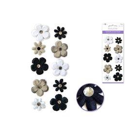 Paper Flower Daisy Black/White