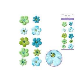 Paper Flower Daisy Blue/Green