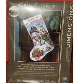 """Dimensions Dimensions Gold Collection 16"""" Snowmen Gathering Stocking"""
