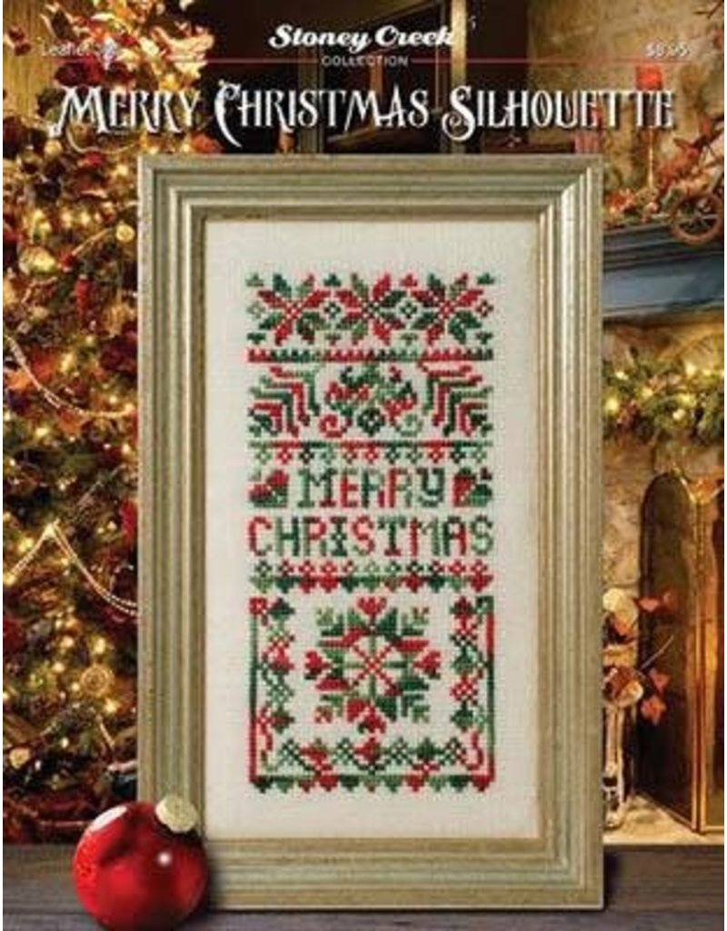 Merry Christmas Silhouette Counted Cross Stitch Pattern - Kathy's Fiber Arts & Crafts