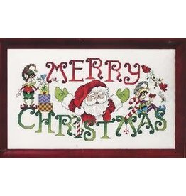 Stoney Creek Merry Elves and Santa Counted Cross Stitch Pattern