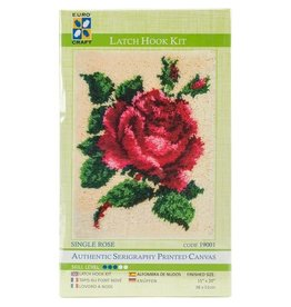 "Euro Craft ""Single Rose"" Latch Hook Kit"