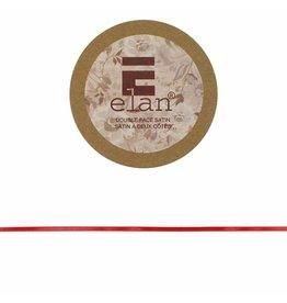 ELAN ELAN Double Face Satin Ribbon 3mm x 5m - Red
