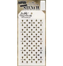 Tim Holtz Stencil, Crossed