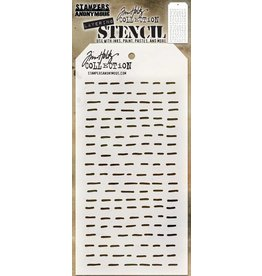 Tim Holtz Stencil, Dashes