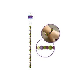 """Glass Beads: Dyed 7"""" Strand w/Glitter Effect Fig"""