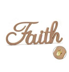 """12"""" DIY Word Decor- MDF Standing Faith"""