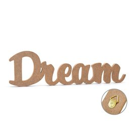 "12"" DIY Word Decor- MDF Standing J) Dream"