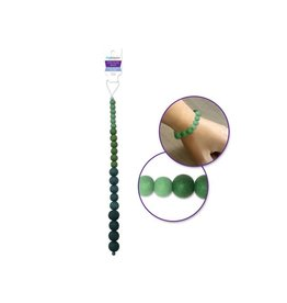 MultiCraft Dyed Glass Beads - Greens