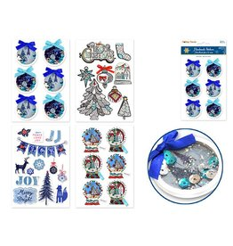 MultiCraft Holiday Stickers - Blue Christmas