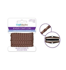 "MultiCraft Braided Leatherette Jewelry/Craft Cord 0.1""x4.9ft"