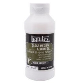 Gesso Liquitex Gloss Acrylic Fluid Medium & Varnish 8oz