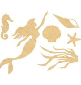 "Beyond The Page MDF Mermaid Wall Art 12.75""X16.5"""