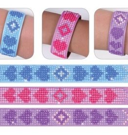 """Diamond Dotz Diamond Bracelets Facet Art Kit 1""""X9"""" Assorted Love 3/Pkg"""