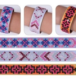 "Diamond Dotz Diamond Bracelets Facet Art Kit 1""X9"" Assorted Geometric 3/Pkg"