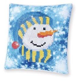 "Diamond Dotz Diamond Embroidery Pillow Facet Art Kit 8""X8"" Snowman Cap Pillow"