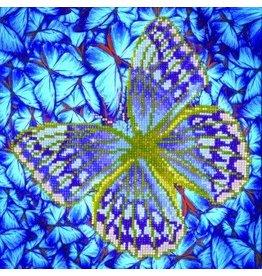 "Diamond Dots Diamond Embroidery Facet Art Kit 12"" X 12"" Flutterby Silver"