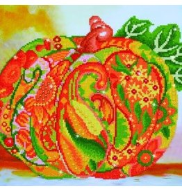 "Diamond Dots Diamond Embroidery Facet Art Kit 20.5"" X 15.4""  Autumn Pumpkin Amber Sparkle"