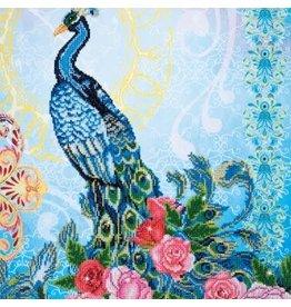 Diamond Dots Diamond Embroidery Facet Art Kit 24.4 X 32.3  Exotic Peacock