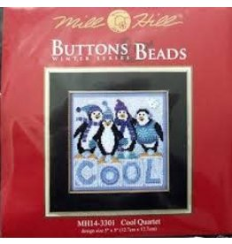 MillHill Beads Cool Quartet - Counted Cross Stitch Kit