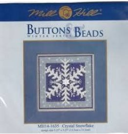 MillHill Beads Crystal Snowflake - Counted Cross Stitch Kit